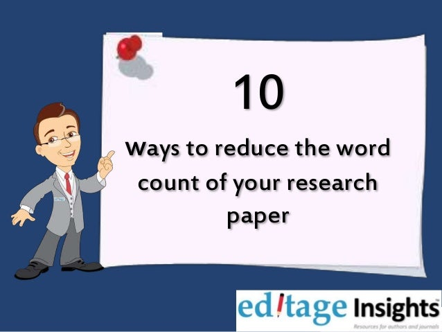 Reduce essay word count