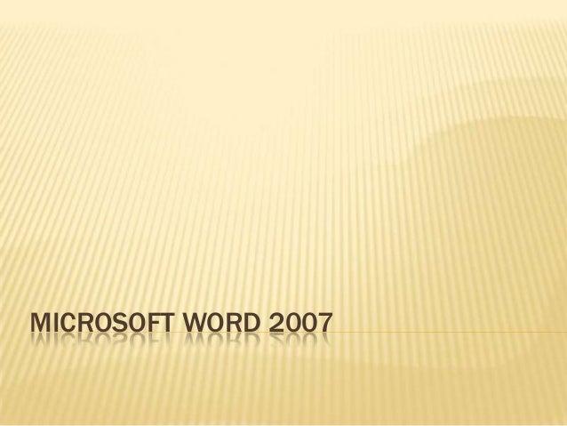 Introdução ao Word 2007