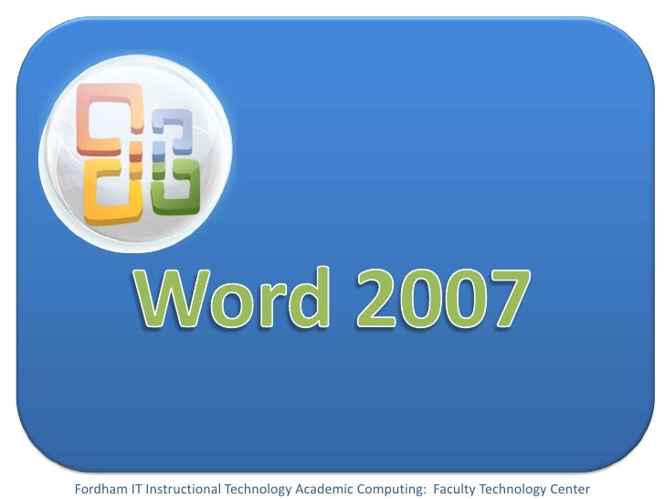 Word 2007 Presentation