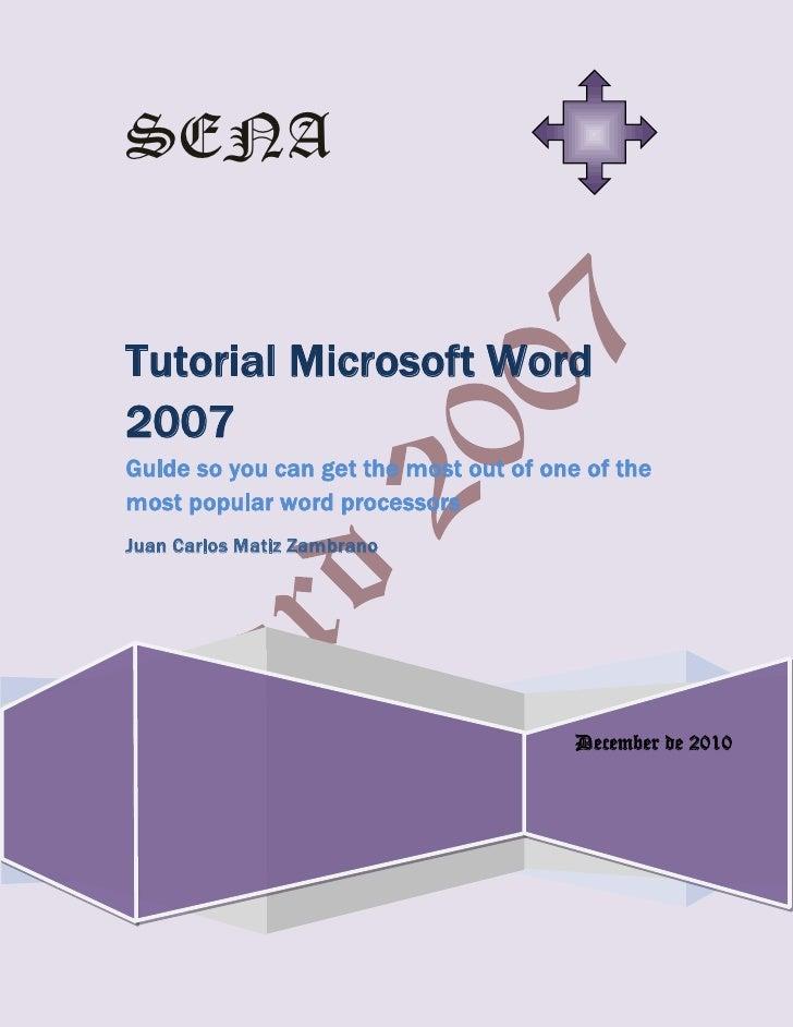 Word 2007 tutorial 1