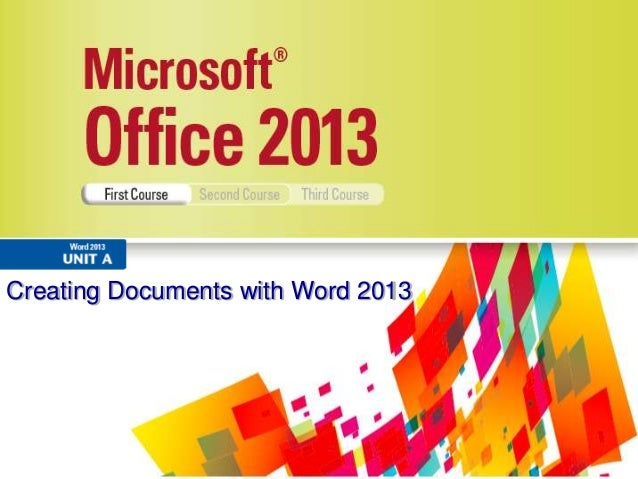 Creating Documents with Word 2013