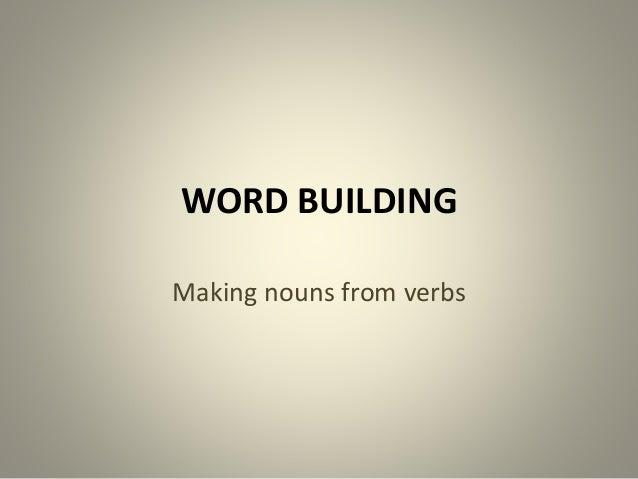 Word building 1