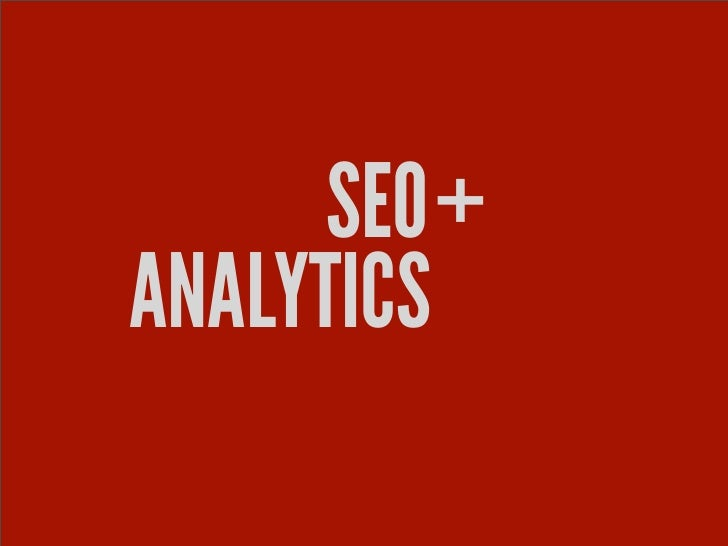 SEO and Analytics for Wordpress