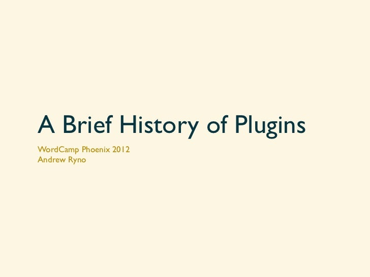 Plugins at WordCamp Phoenix