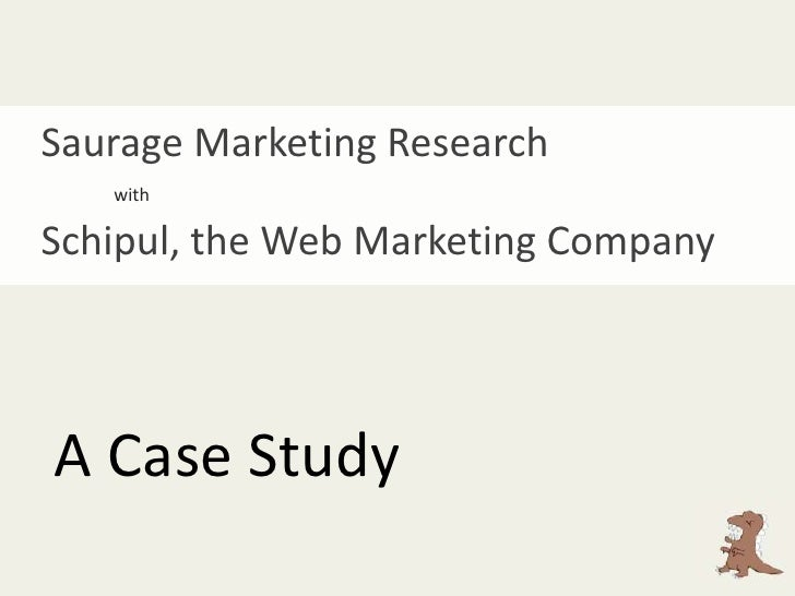 Saurage Marketing Research<br />with<br />Schipul, the Web Marketing Company<br />A Case Study<br />