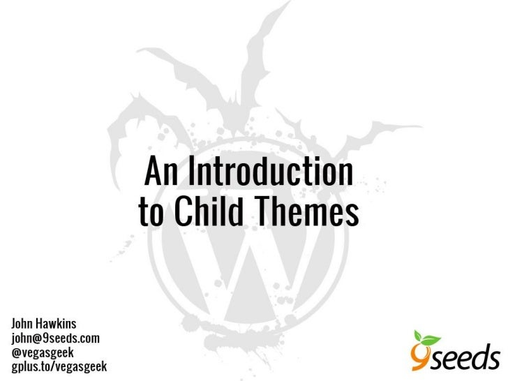 WCLV - Introduction to child themes