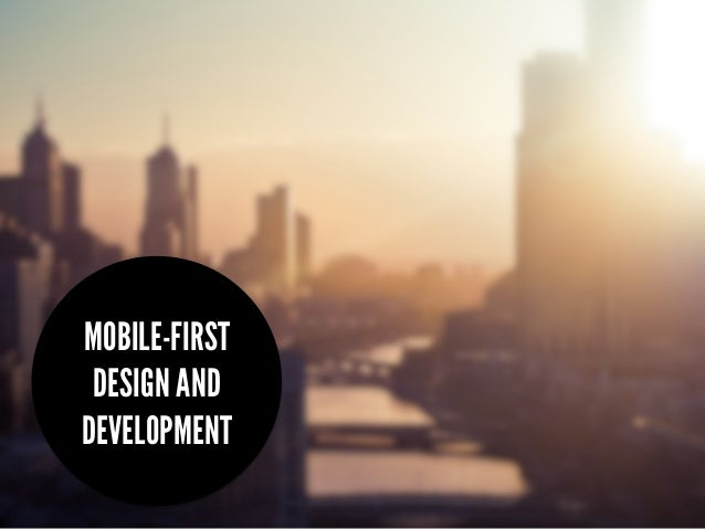 """Brisbane Web Design April 2013: """"An Introduction to Mobile First Development and Design"""""""