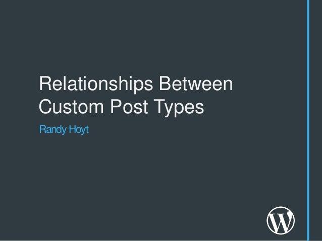 Relationships BetweenCustom Post TypesRandy Hoyt