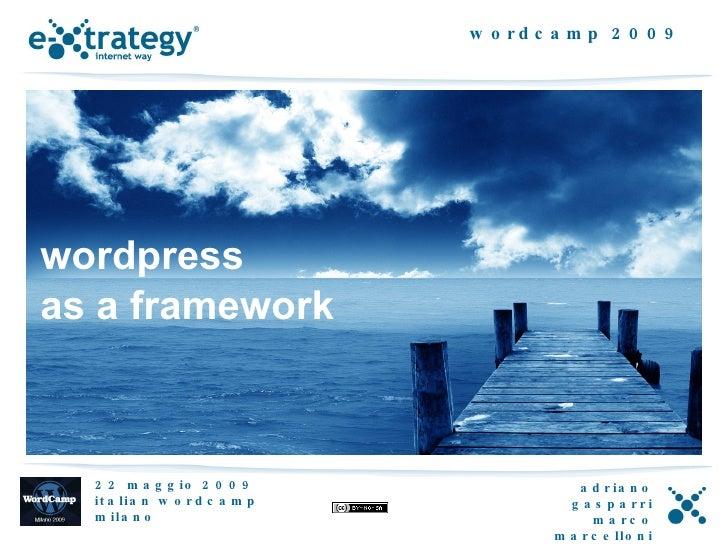 worpress as a framework