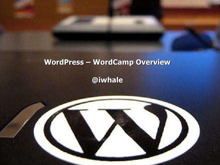 WordPress – WordCamp Overview @iwhale