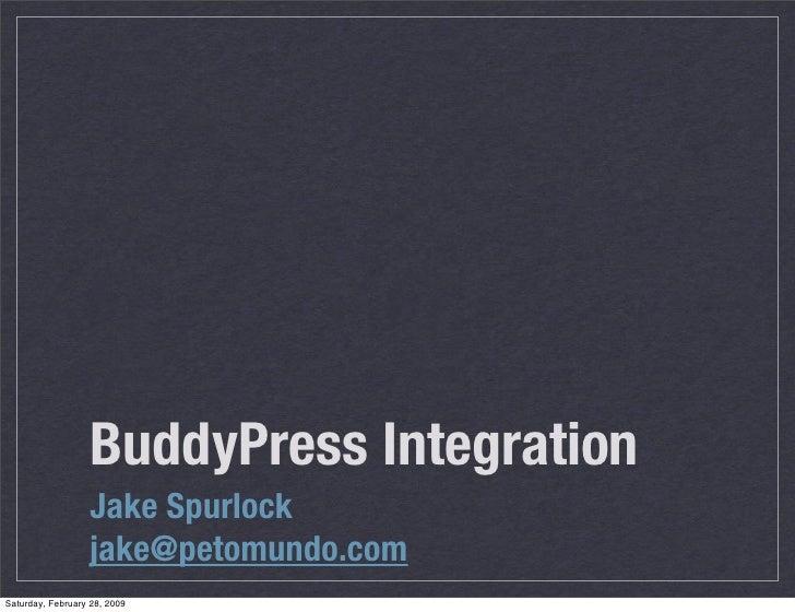 WordCamp Denver BuddyPress Integration