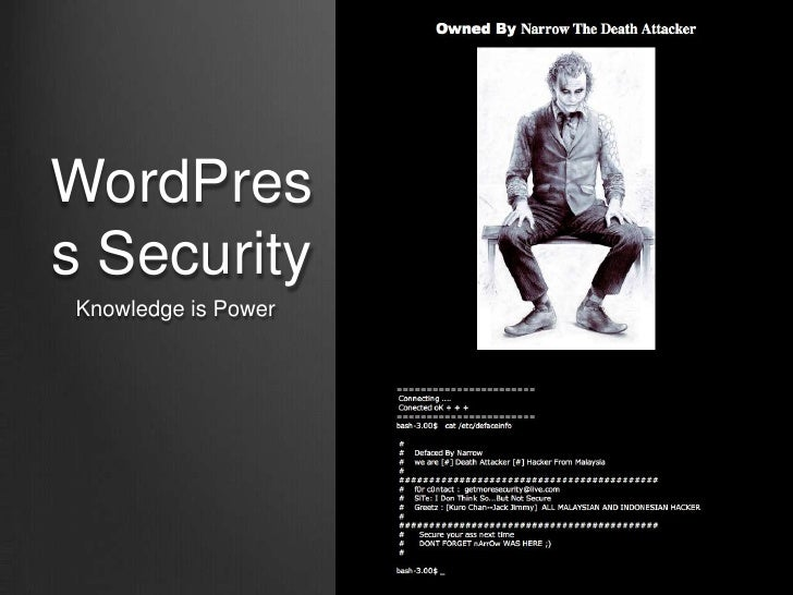 WordPress SecurityKnowledge is Power