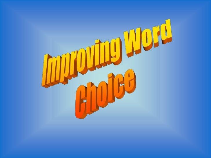 Good word choices for essays