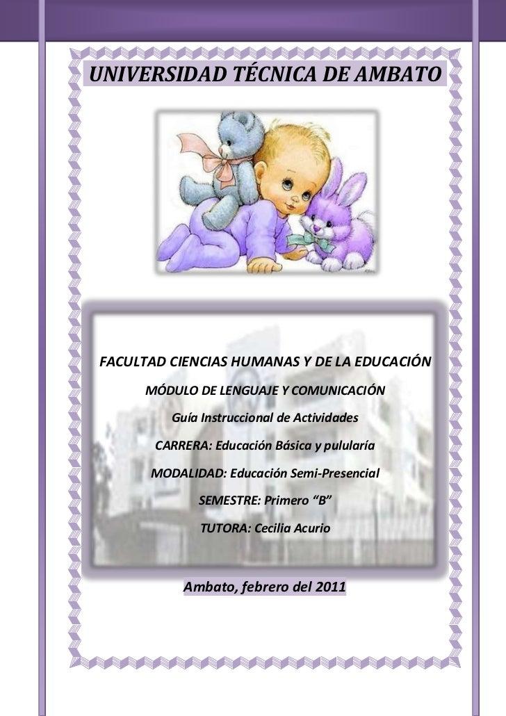 MODULO DE LENGUAJE Y COMUNICACION