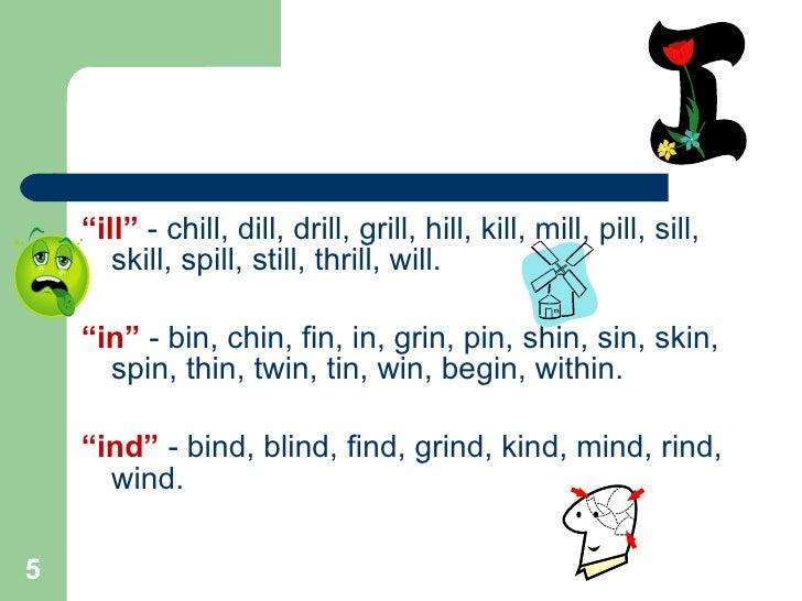 Word Families Amp Rhyming Words 3