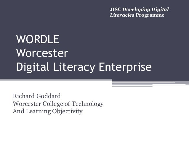 WORDLE Digital Literacy Enterprise