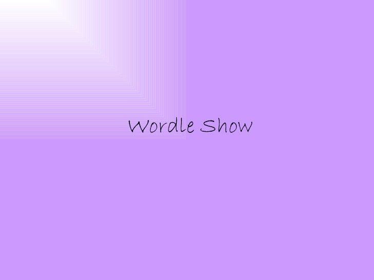 Wordle show
