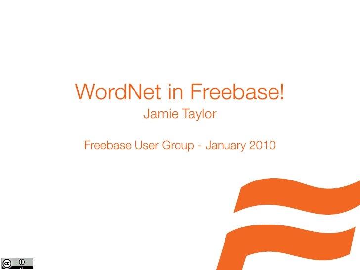 Wordnet in Freebase
