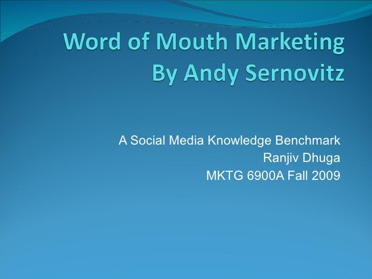 Review of Word Of Mouth Marketing