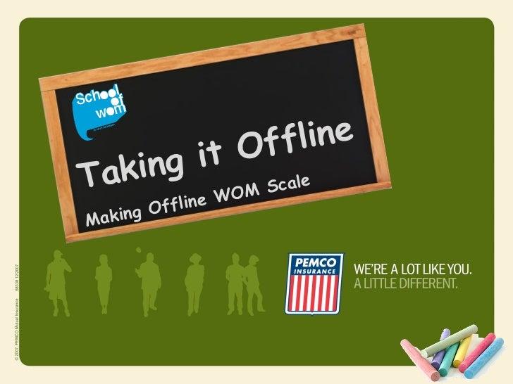 Off    lineTakin g it             M Scale        e WO      g OfflinMakin