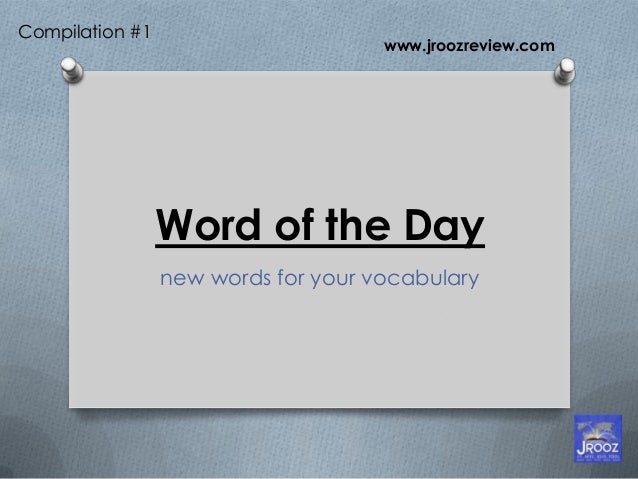 Word of the day Compilation 1