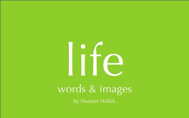 life word of the day    by Hussein Hallak