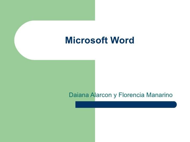 Word presentación