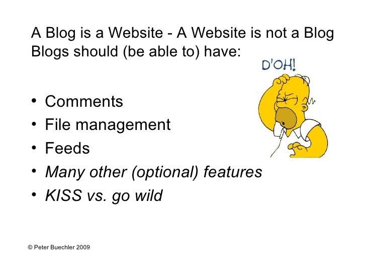 <ul><li>Comments </li></ul><ul><li>File management </li></ul><ul><li>Feeds </li></ul><ul><li>Many other (optional) feature...