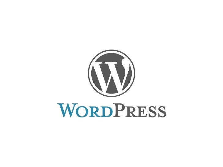 """WordPress idag Inget mer """"bara bloggar"""", WordPress är ett CMS!"""