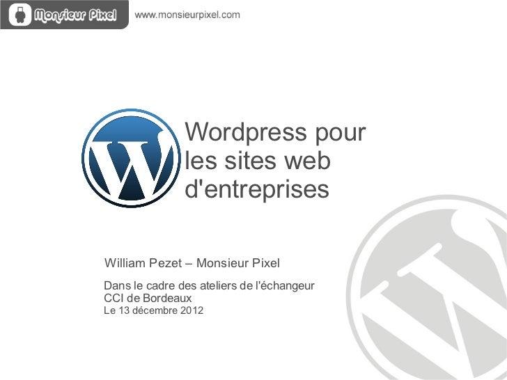 Wordpress pour les entreprises