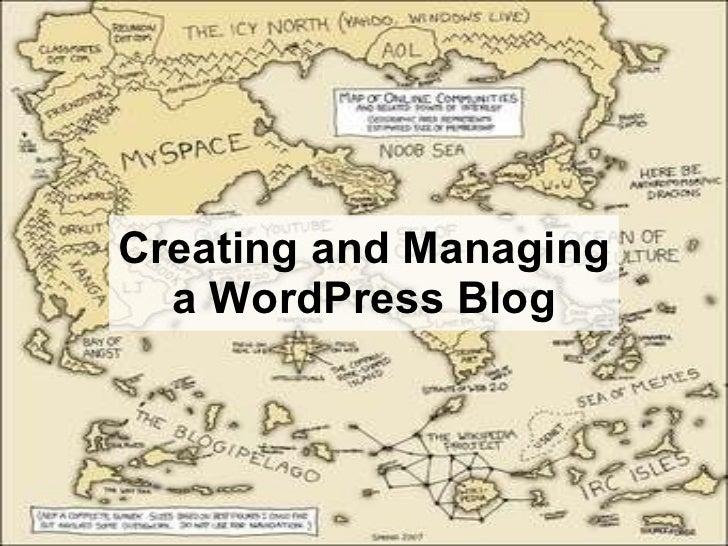 Creating and Managing a WordPress Blog