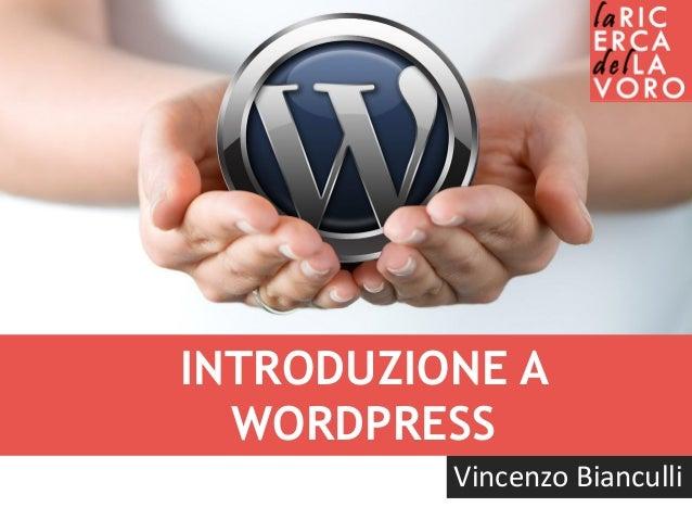 Introduzione a WordPress