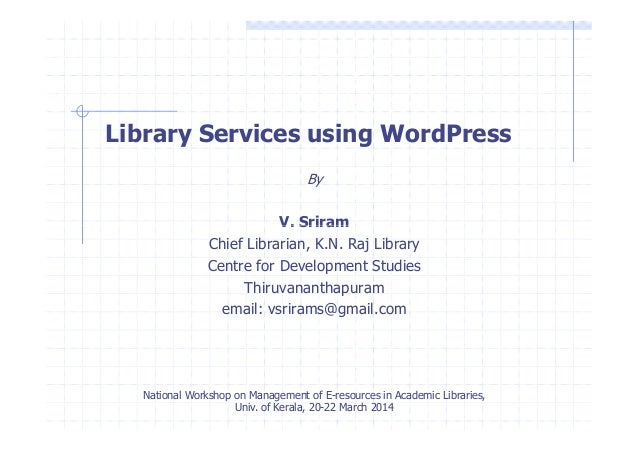 Library Services using WordPress