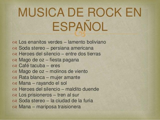 Rock en español: Top 100 mejores canciones de la historia (Parte I y II) -  Música Rock - Hello Foros - Chismes, música, y amistad