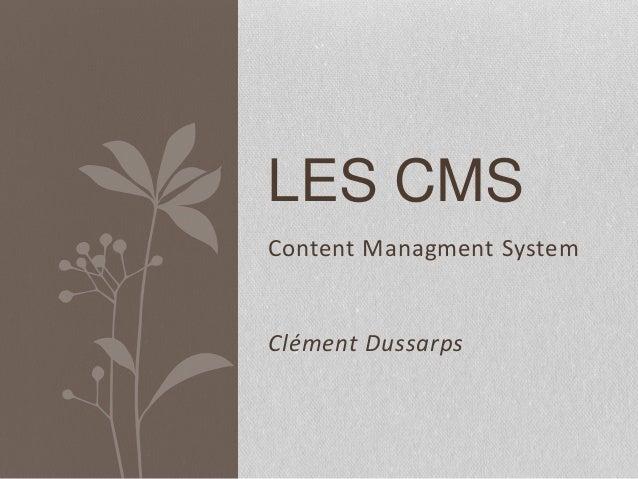 Content Managment System LES CMS Clément Dussarps
