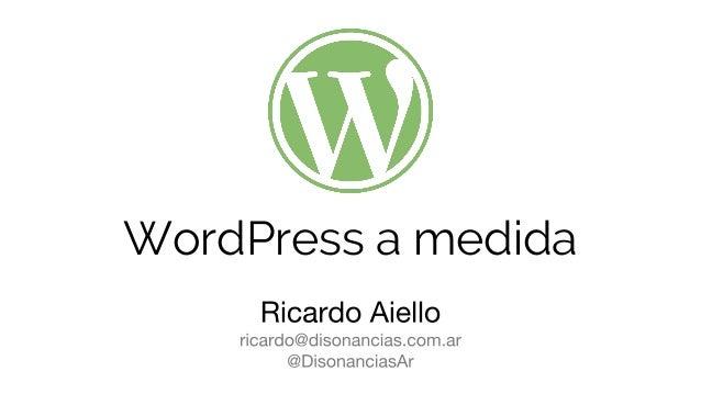 WordPress a medida