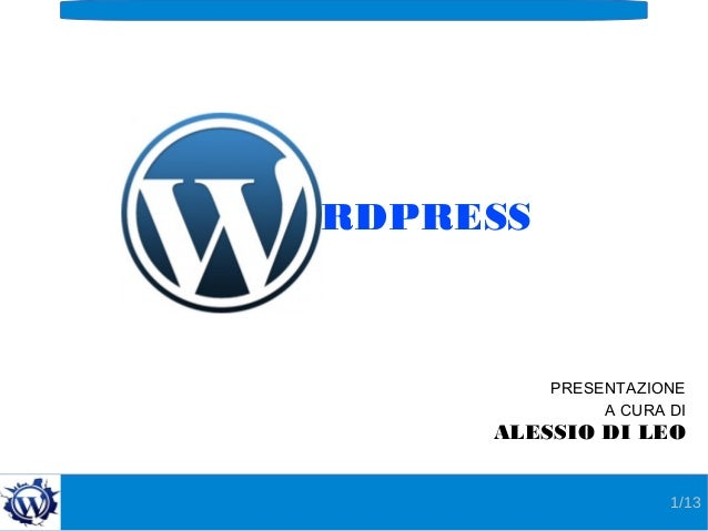 Wordpress   alessio di leo