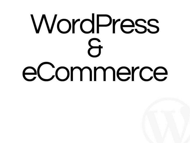 Week 15 - Wordpress and eCommerce
