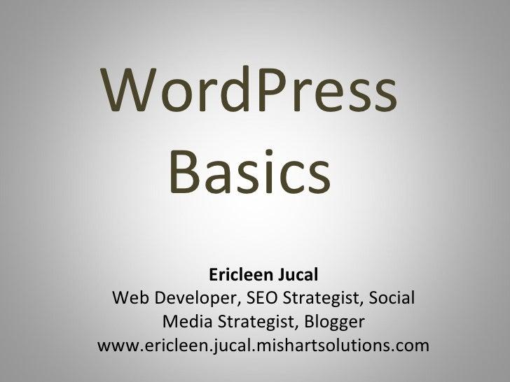Wordpress basics1
