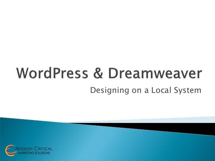 Word press dreamweaver