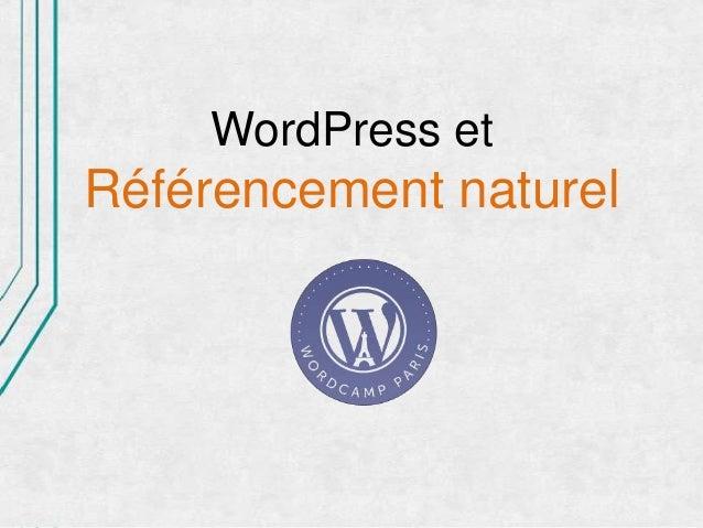 WordPress etRéférencement naturel