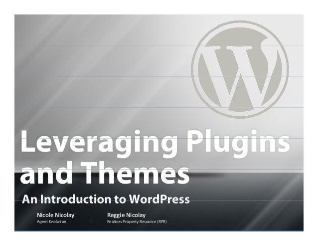 NARdiGras WordPress Camp - Themes & Plug-Ins