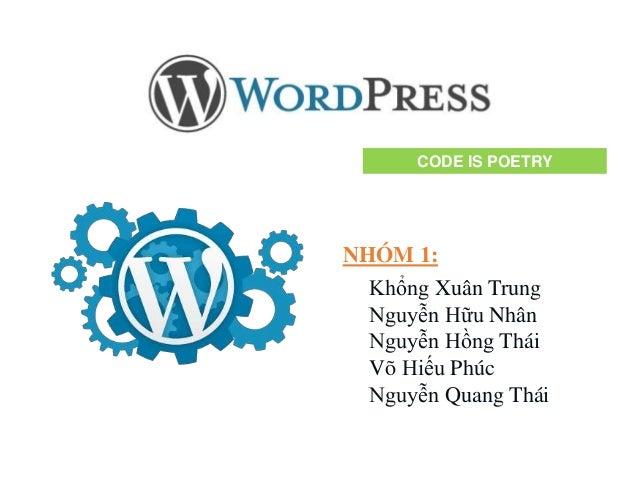 Tìm hiểu về Wordpress - Wordpress presentation