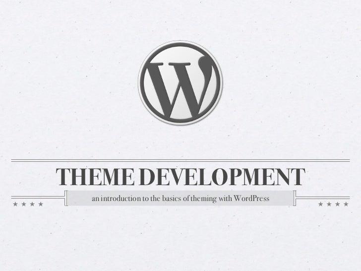 Intro to WordPress theme development