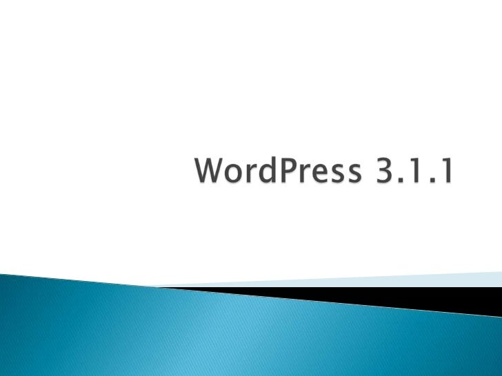 WordPress 3.1.1<br />