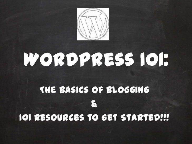 Word press 101