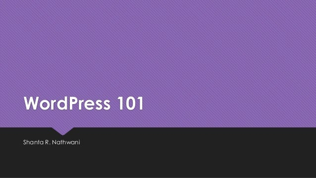 WordPress 101 - Foundation Friday at WordCamp Chicago 2014 #WCChi