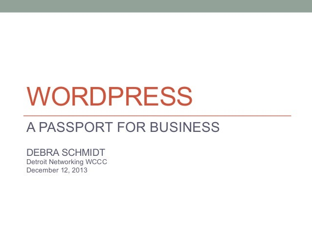 WordPress: Your Passport to Business