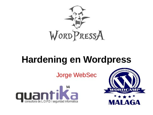 Wordpressa - Hardening en Wordpress