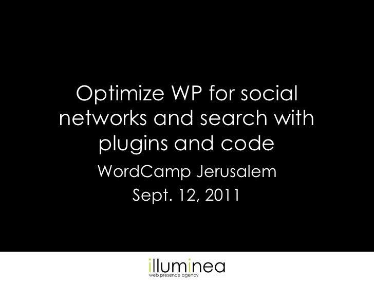 Optimizing WordPress sites for SEO and social media by Miriam Schwab